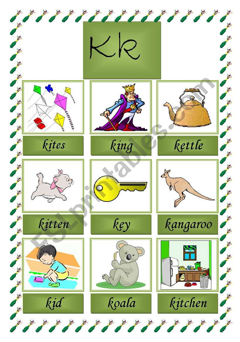 picture dictionary (K) worksheet