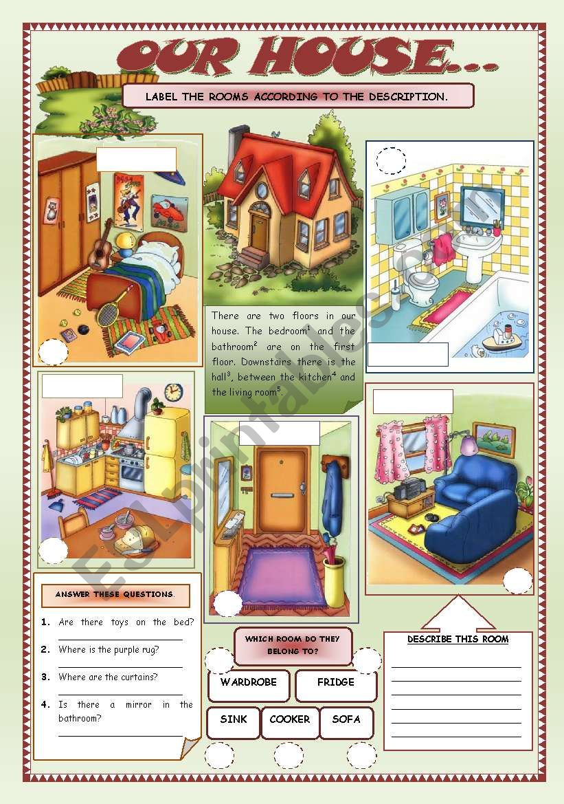OUR HOUSE (3) worksheet