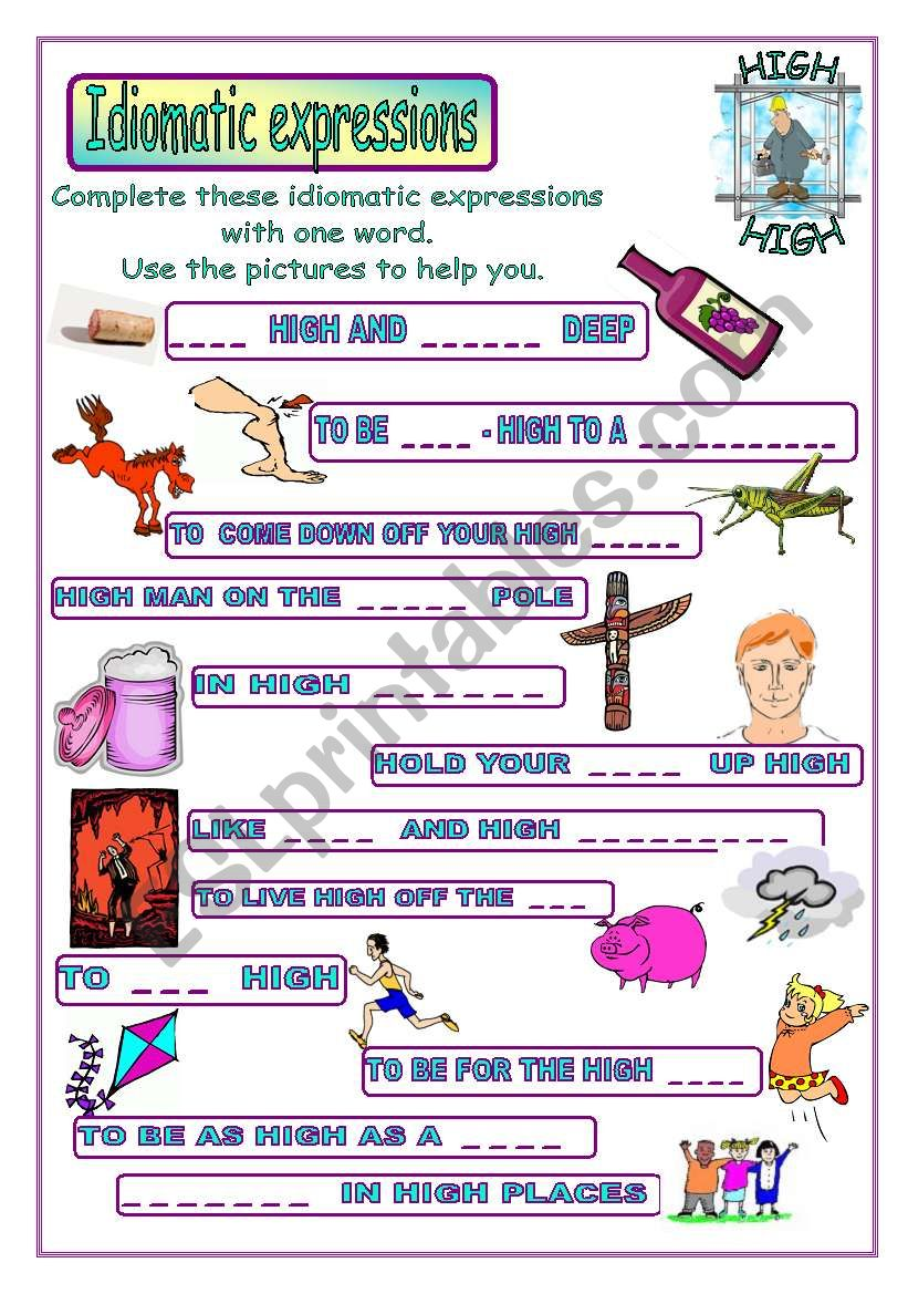 Idiomatic expressions - HIGH -
