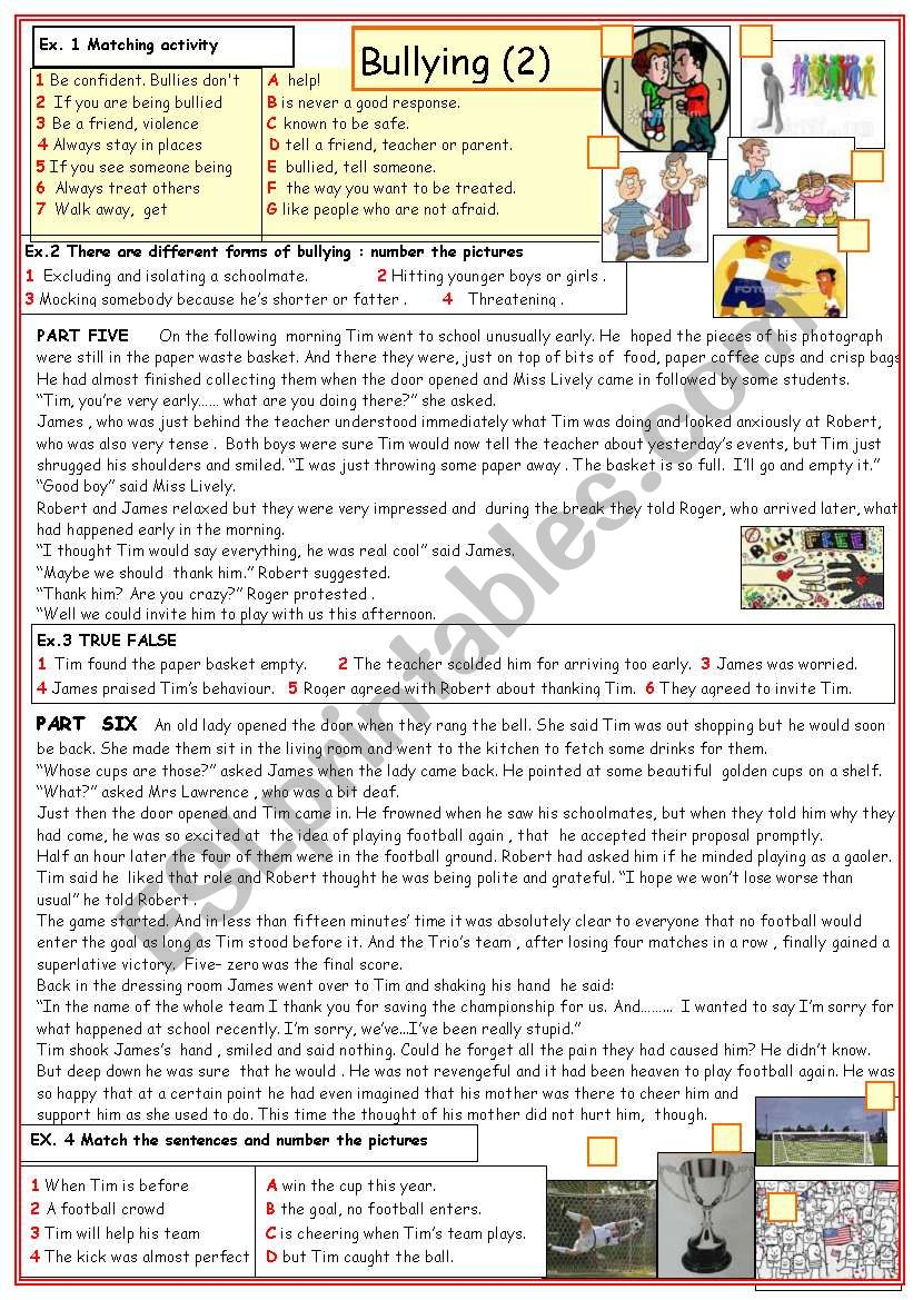 Bullying (2) worksheet