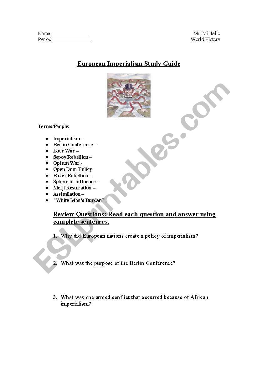 World History Imperialism Study Guide (AP World Unit 5 ...