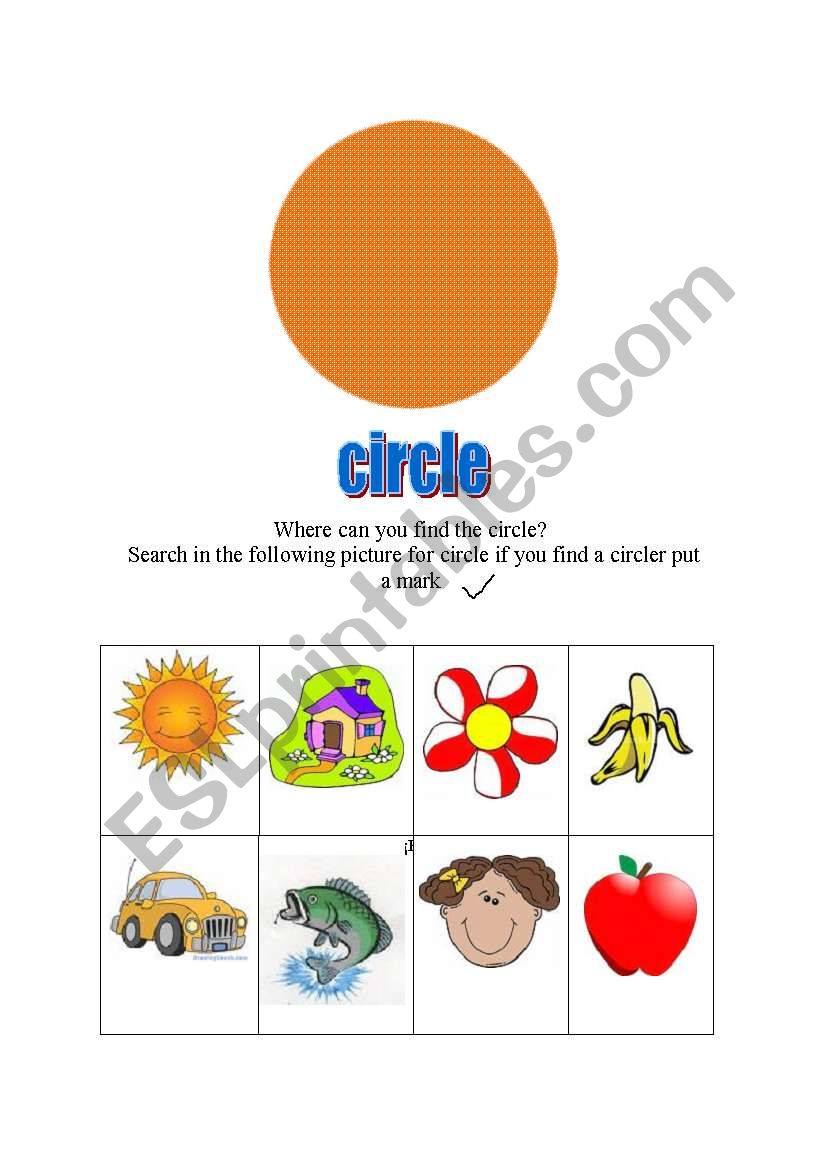 find the cicle worksheet