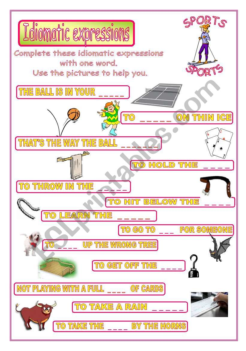 Idiomatic expressions - SPORTS -