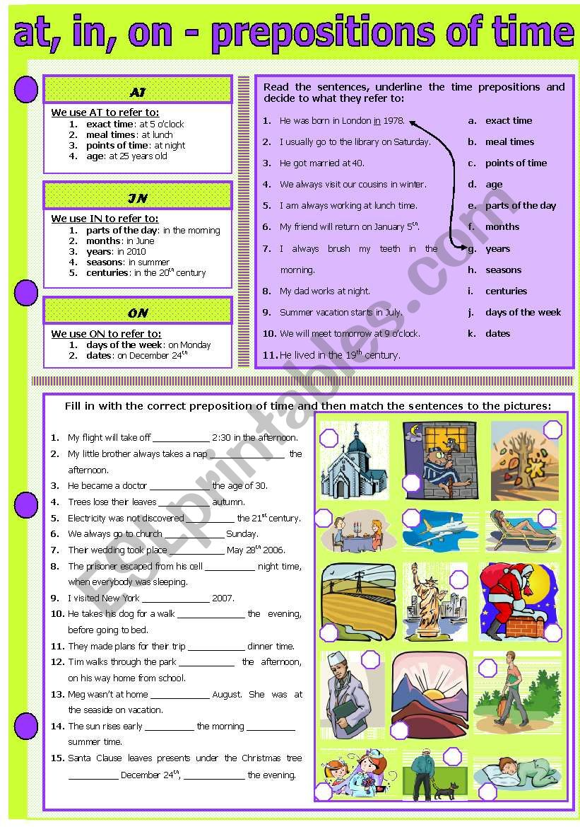 AT, IN, ON - PREPOSITIONS OF TIME
