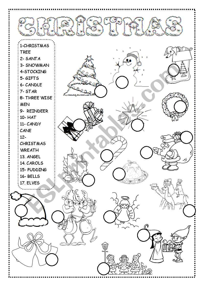 - Christmas Worksheet - ESL Worksheet By INETA