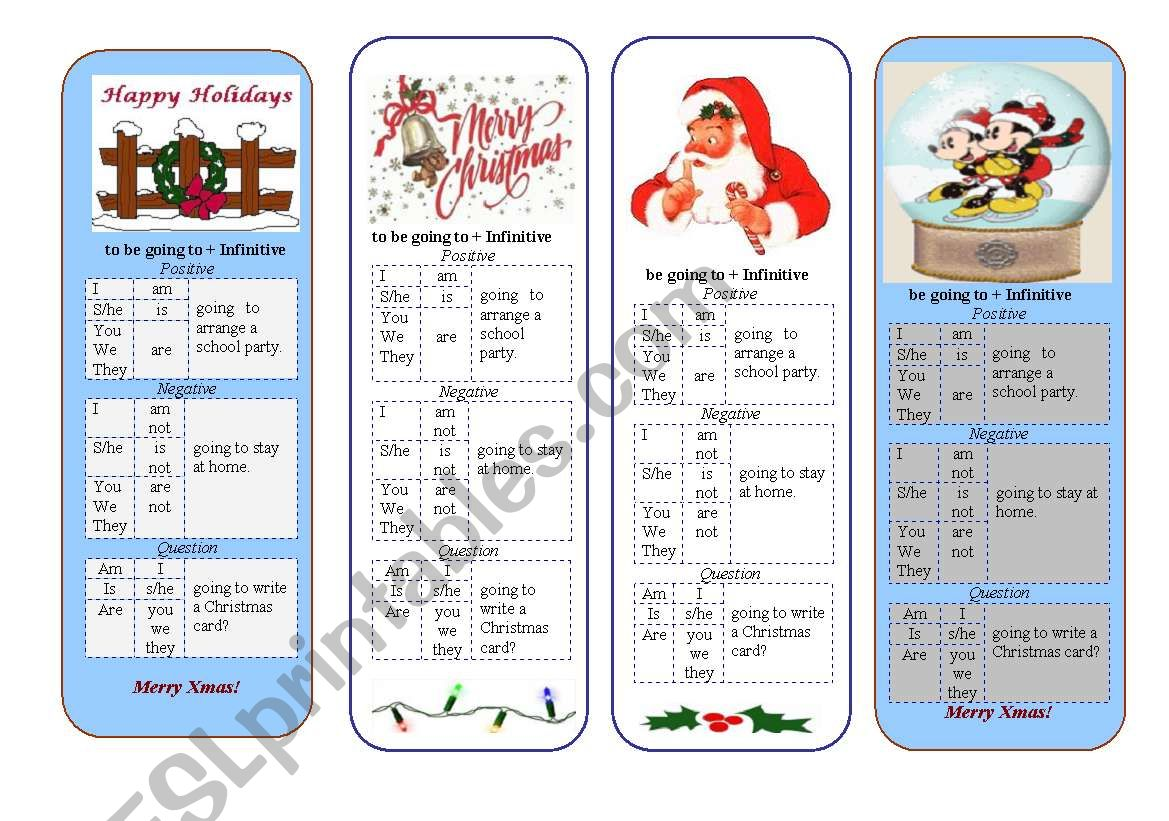 Christmas bookmark worksheet