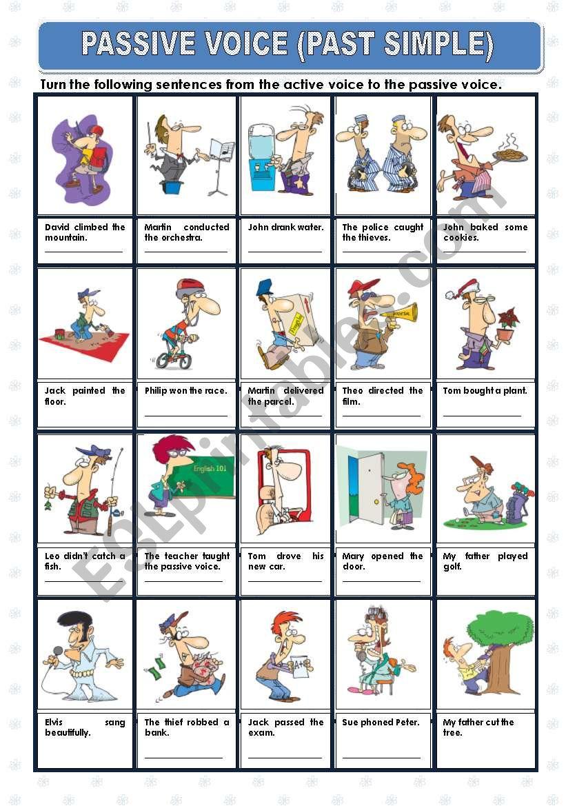 PASSIVE VOICE - PAST SIMPLE worksheet