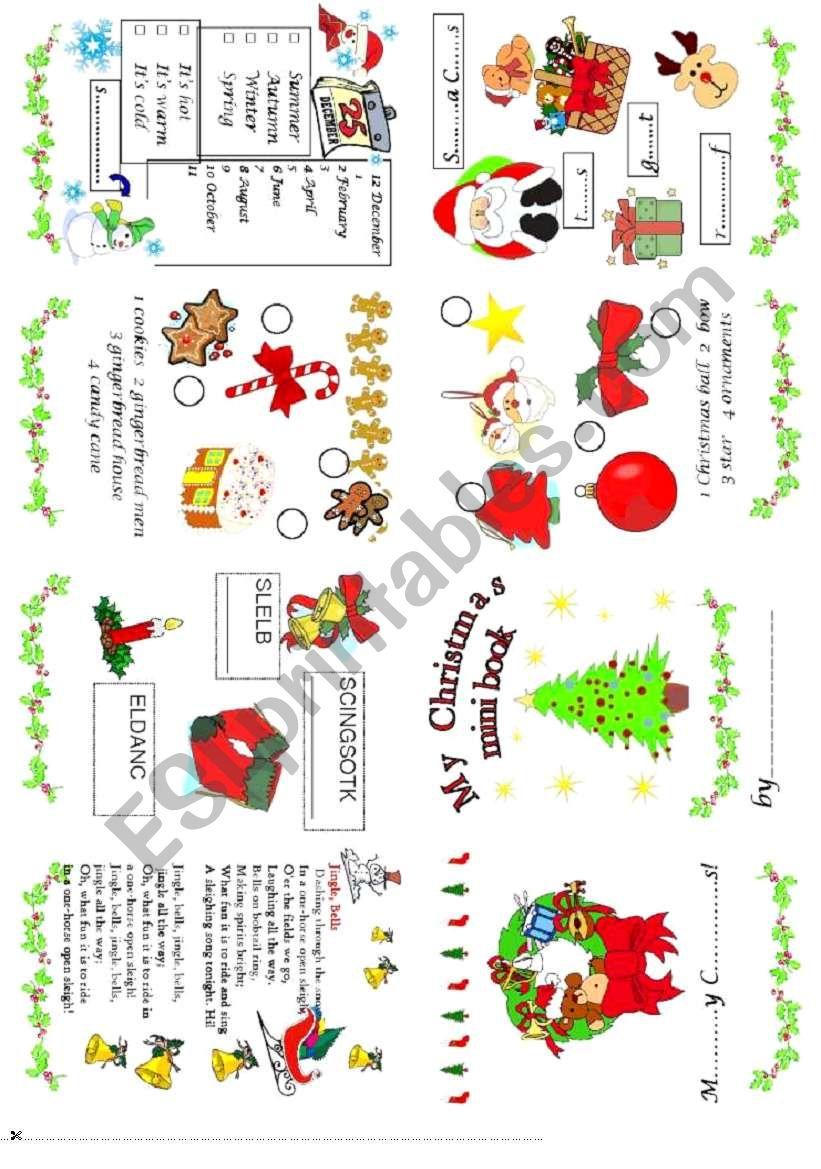 Christmas mini book 1 worksheet