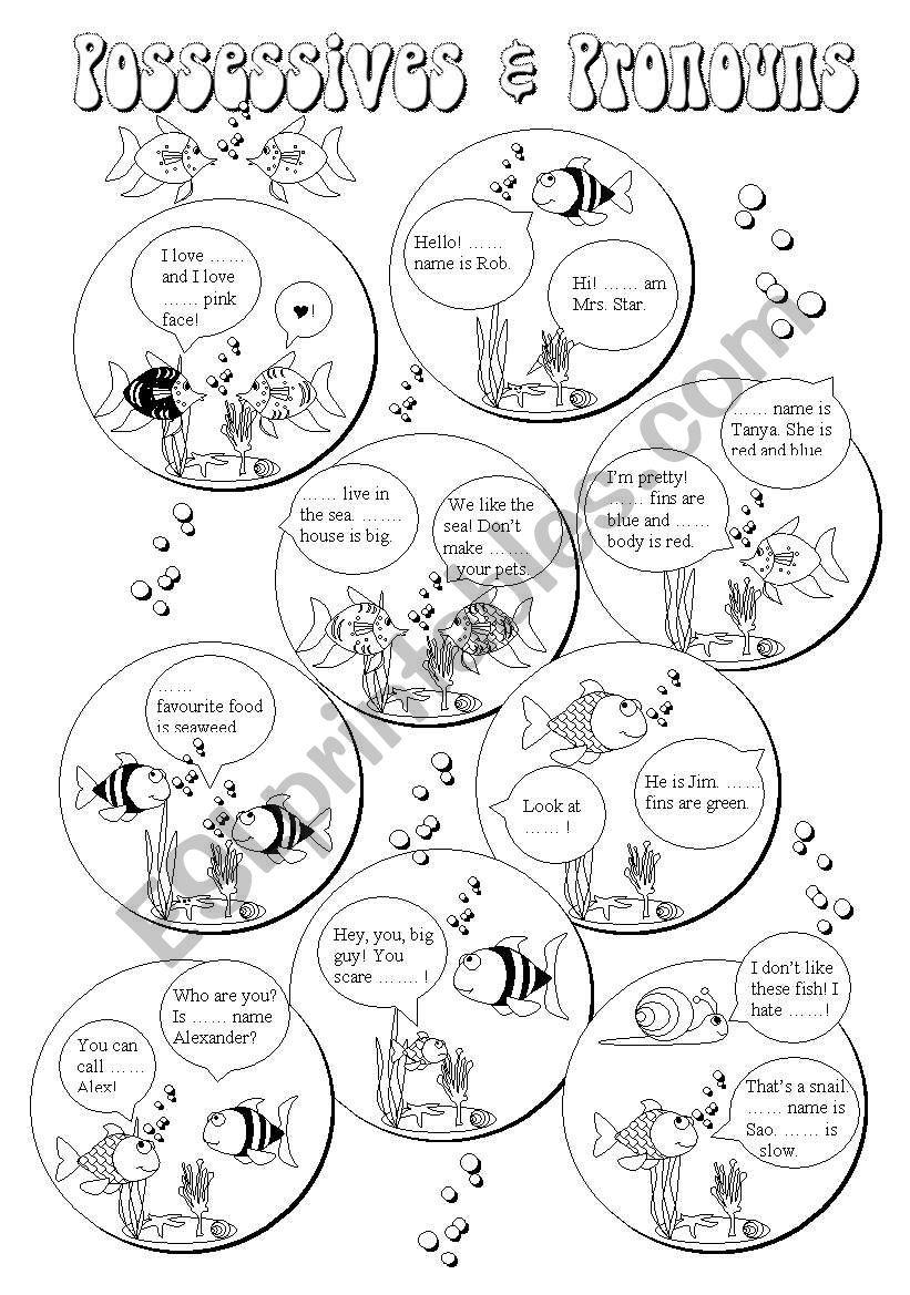Possessives & Pronouns (2/3) worksheet