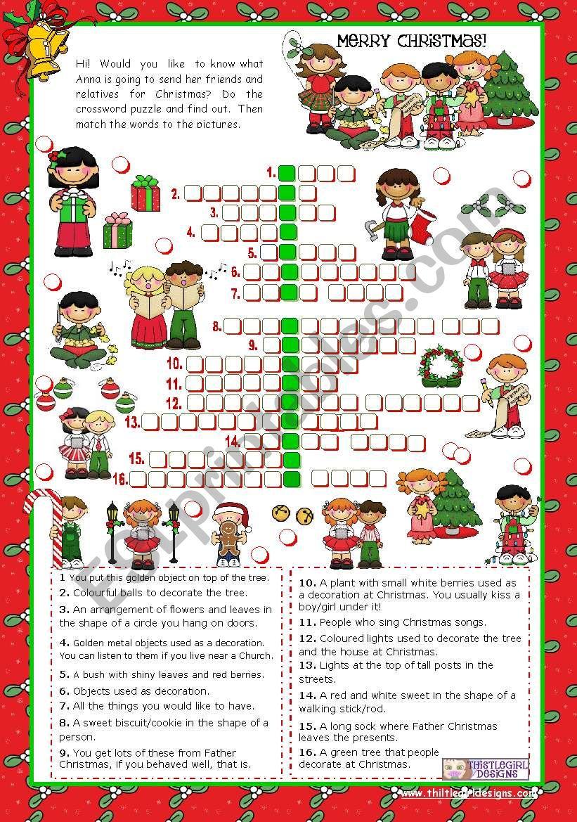 Christmas Set  (3)  -  Crossword Puzzle
