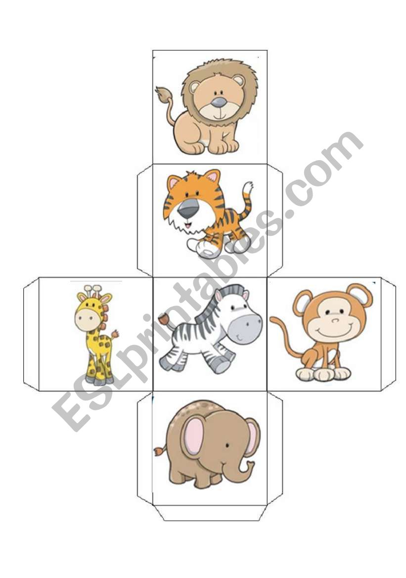 ANIMAL dices worksheet
