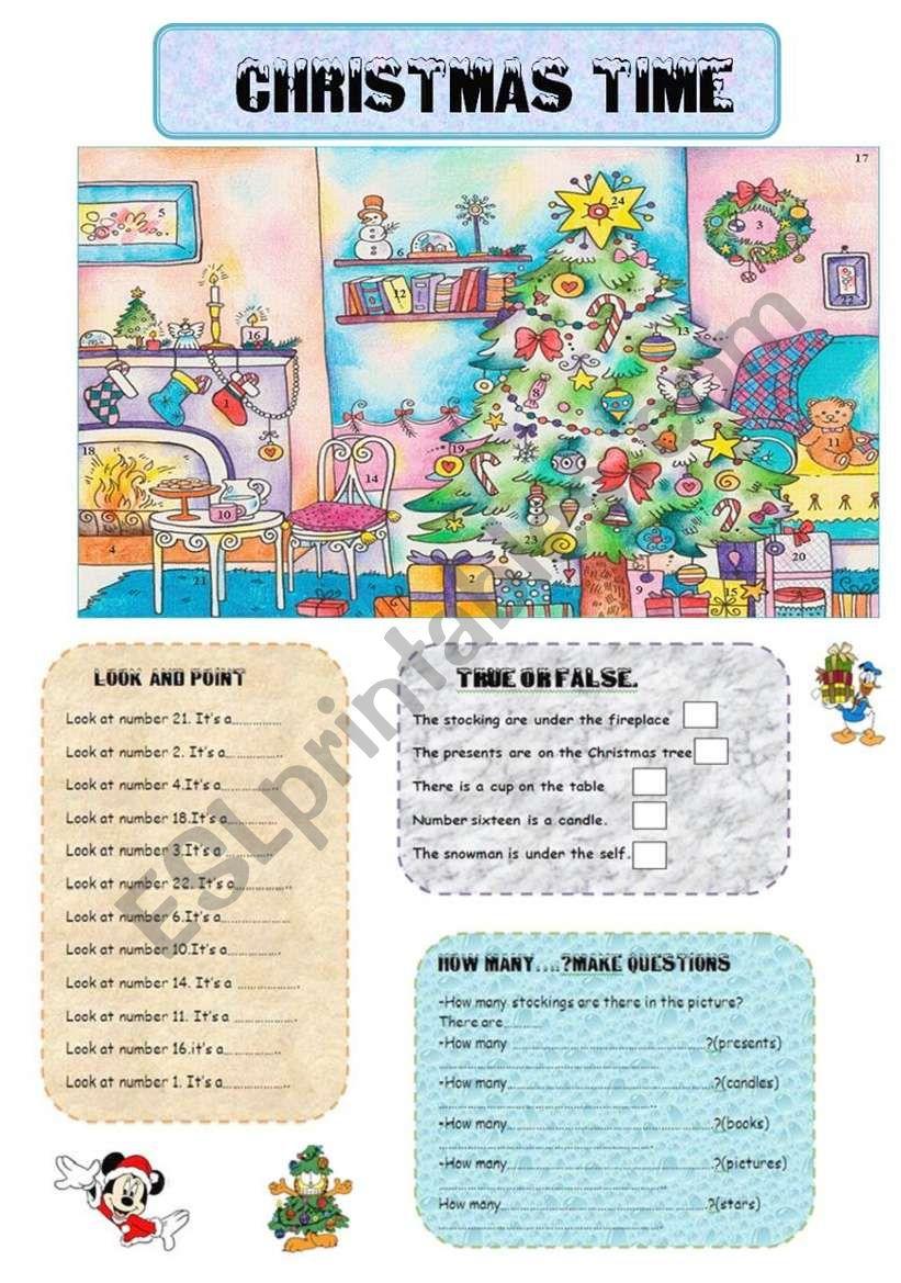 CHRISTMAS TIME (Review: christmas vocabulary,how many...,)
