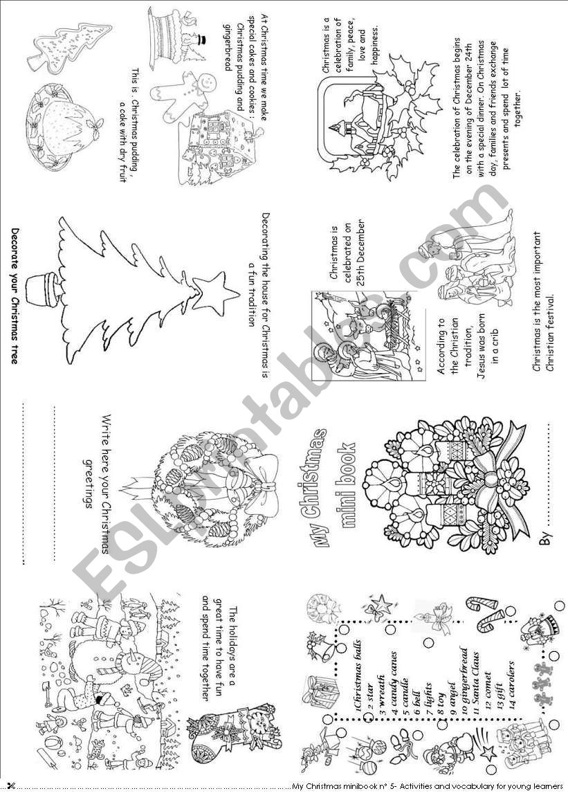 My Christmas mini book 5 worksheet