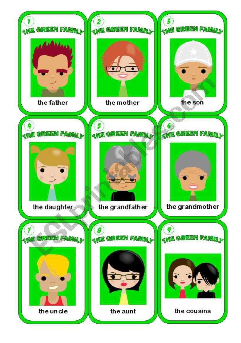 HAPPY FAMILY GAME  2/3 worksheet
