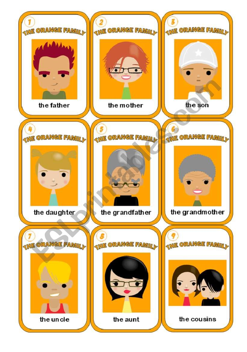 HAPPY FAMILY GAME - 3/3 worksheet