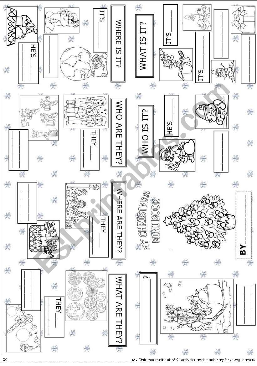 My Christmas mini book 9 worksheet