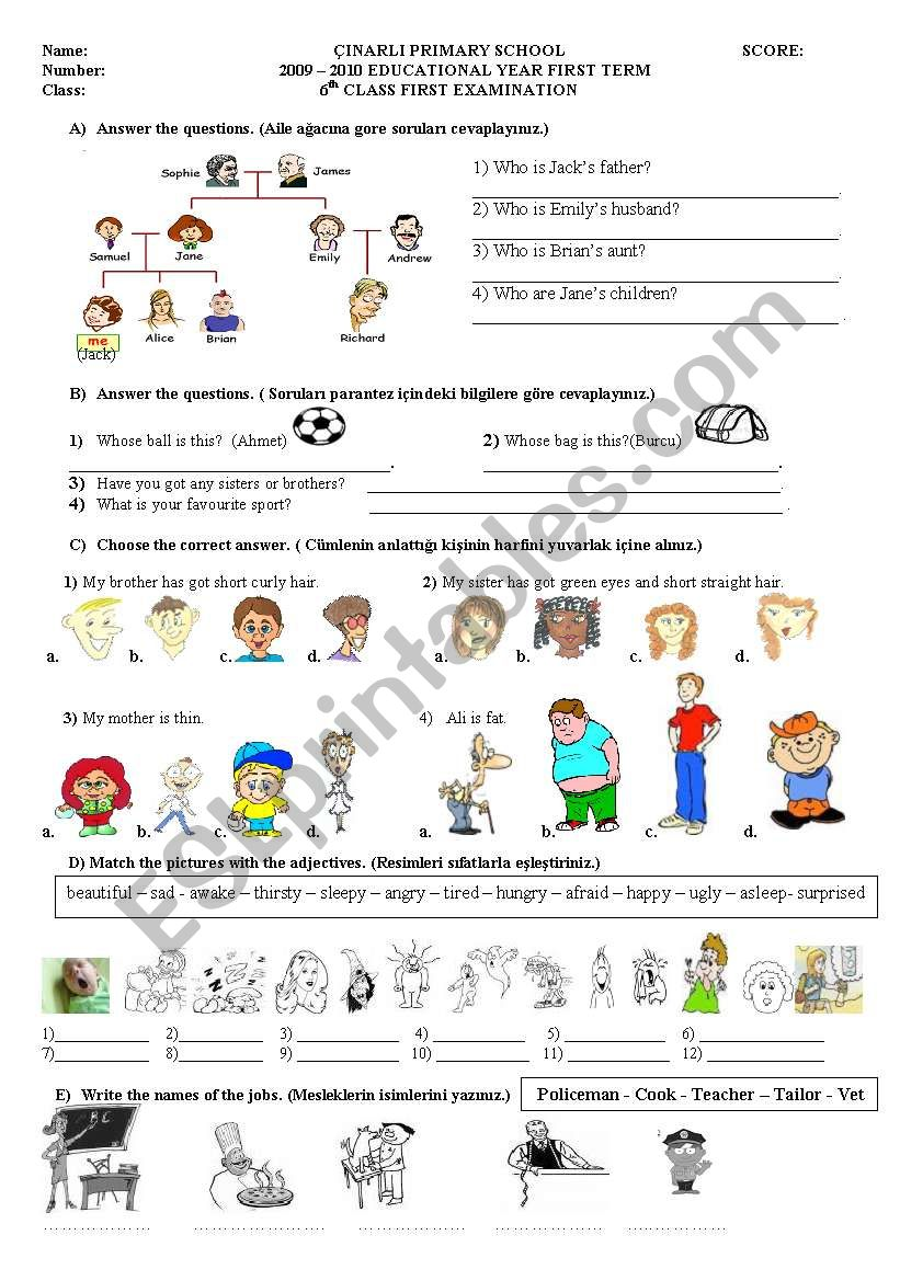 Exercises for Elementary Students