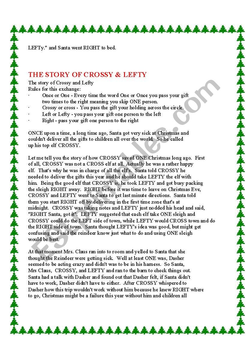 picture regarding Christmas Left Right Game Printable titled P The Present Xmas Activity ✓ The Christm Present Inspirations