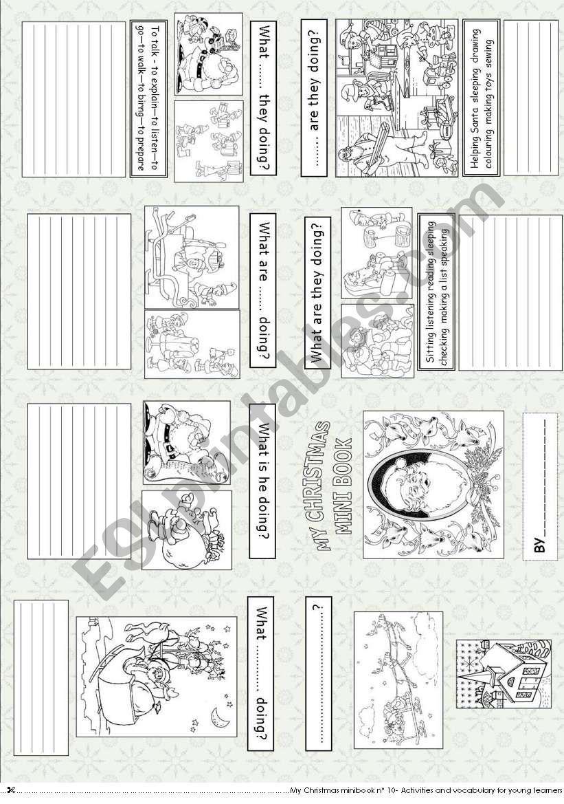 My Christmas  mini book 10... worksheet