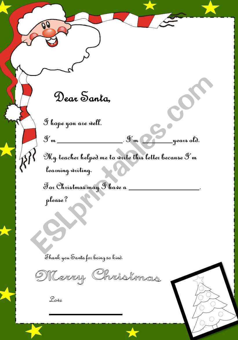 LETTER TO SANTA-YOUNG LEARNERS