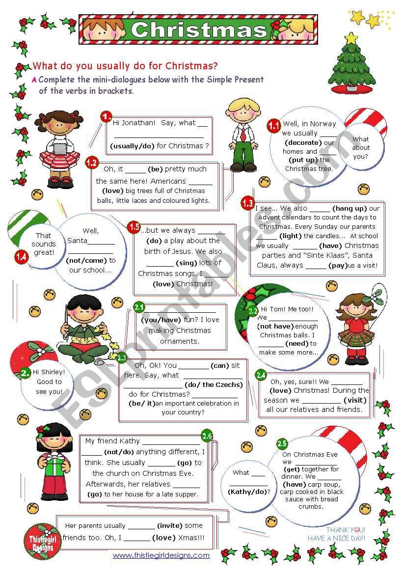 Christmas Set  (6)  -  What do you usually do for Christmas?