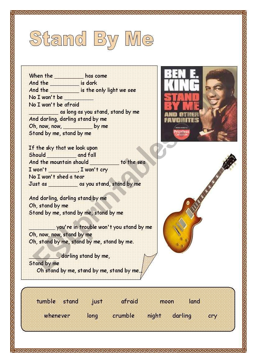 Stand By Me - Ben E. King worksheet