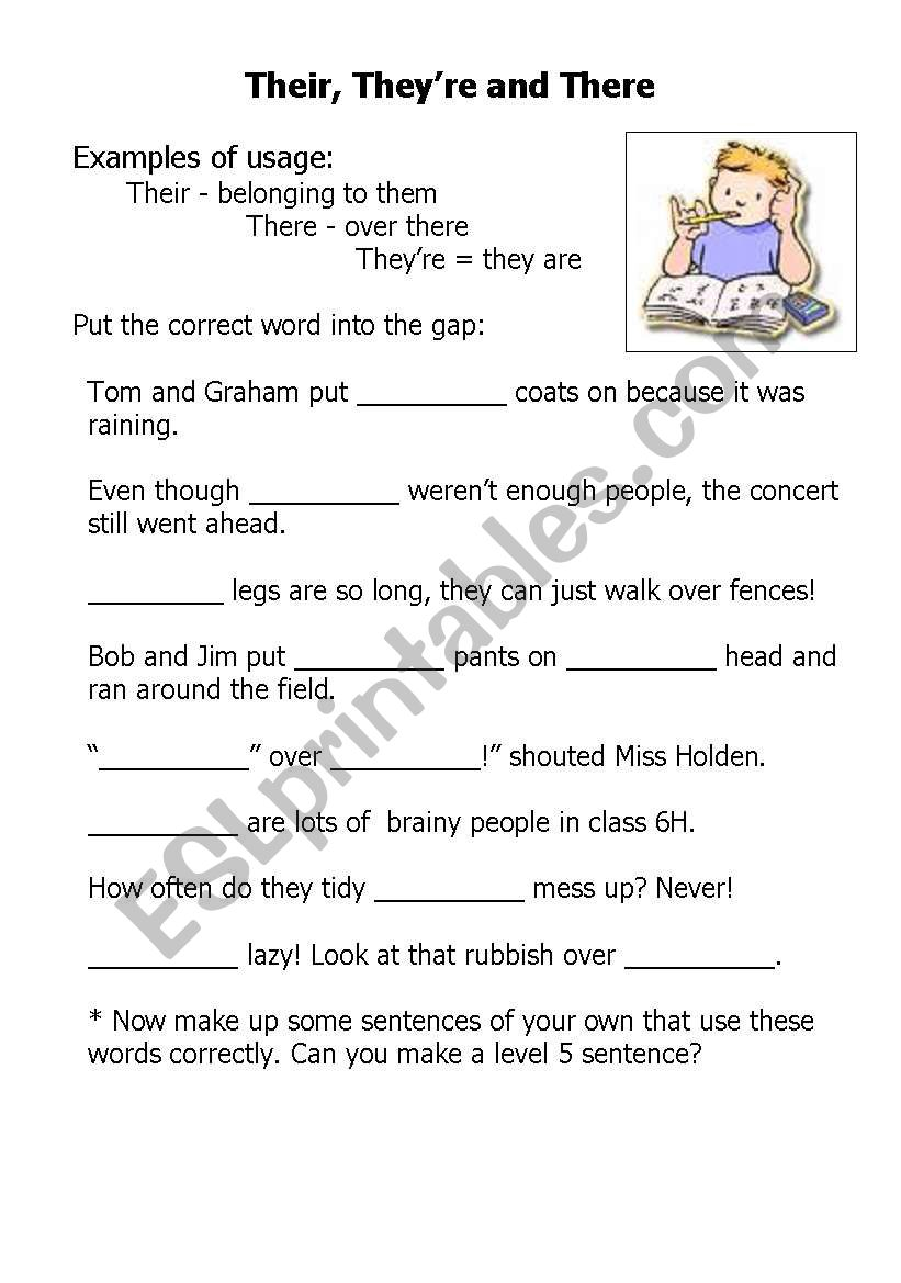 Their There And Theyre Esl Worksheet By Chrisharris76
