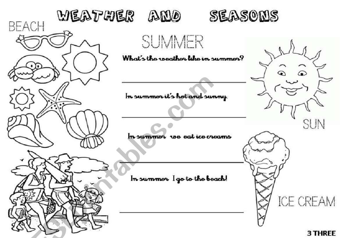 what s the weather like in spring and in summer 2 worksheets 2 4 esl worksheet by inrode. Black Bedroom Furniture Sets. Home Design Ideas