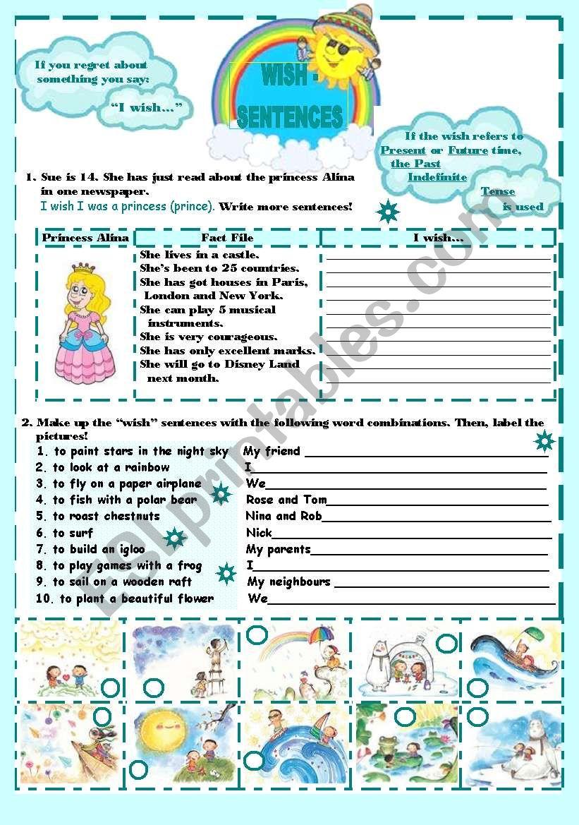 Wish-sentences worksheet