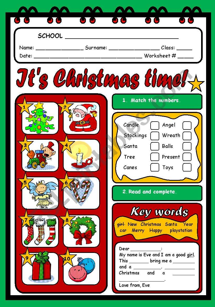 IT´S CHRISTMAS TIME worksheet