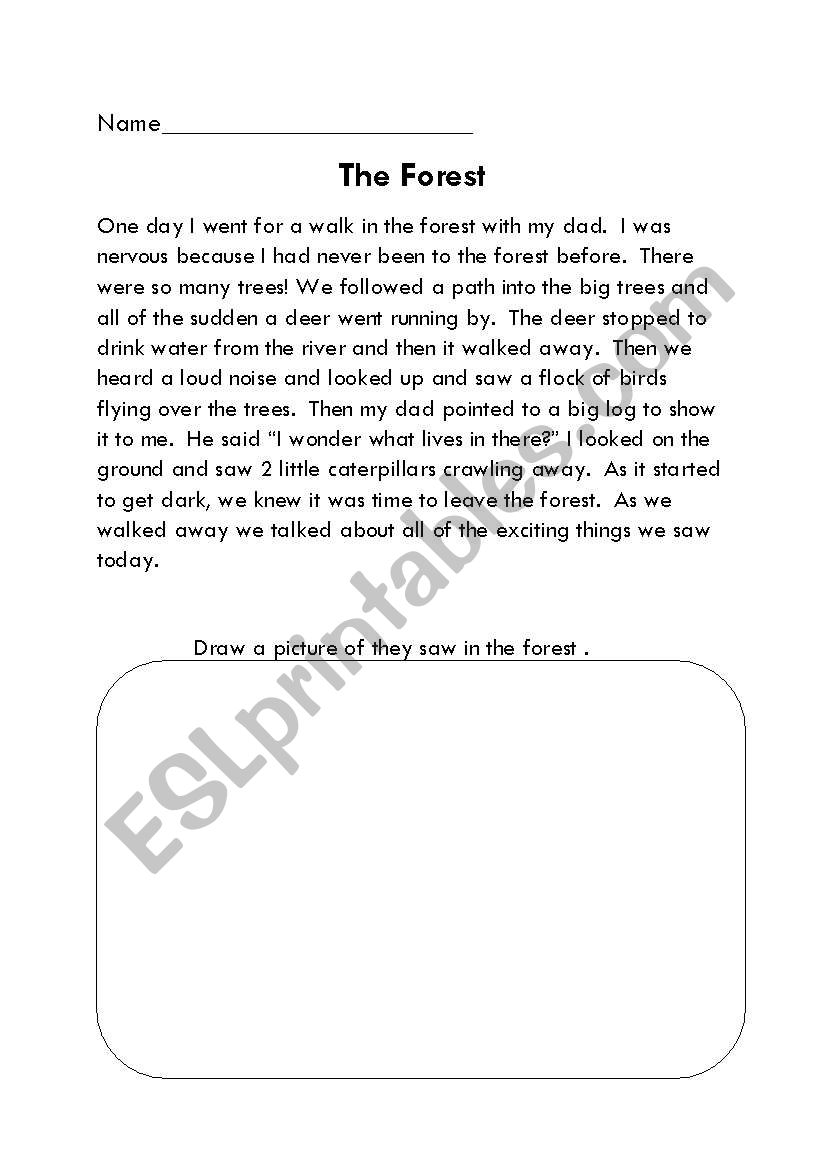 The Forest worksheet