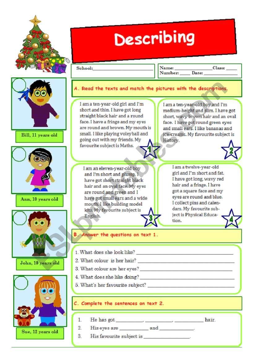 Describing people (09.12.09) worksheet