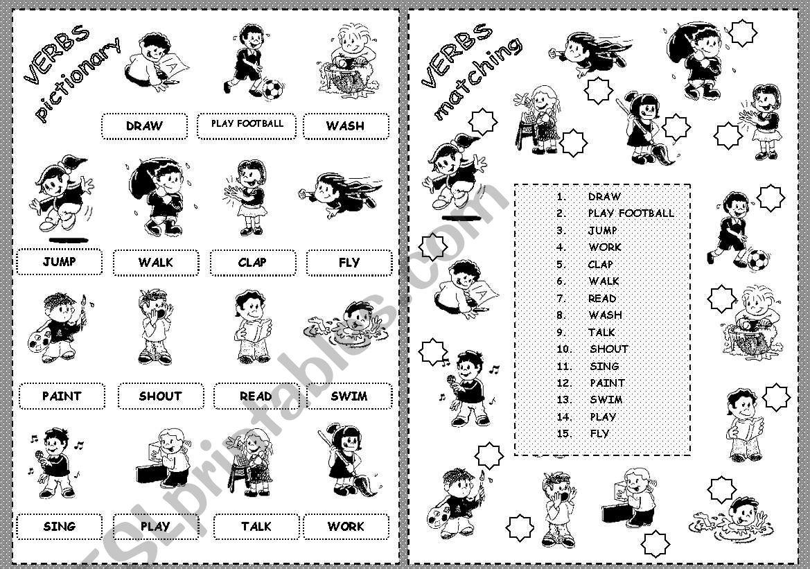 First Verbs 1 worksheet