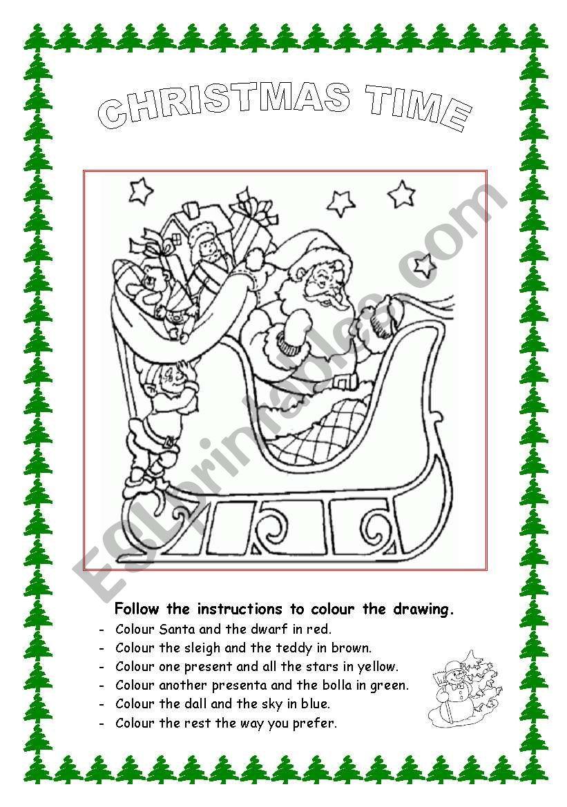 christmas time esl worksheet by raquelgil. Black Bedroom Furniture Sets. Home Design Ideas