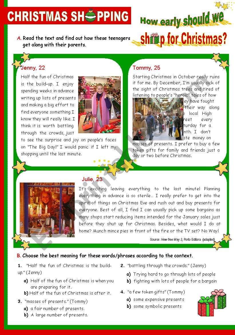 Christmas Set  (9)  -  Christmas shopping: