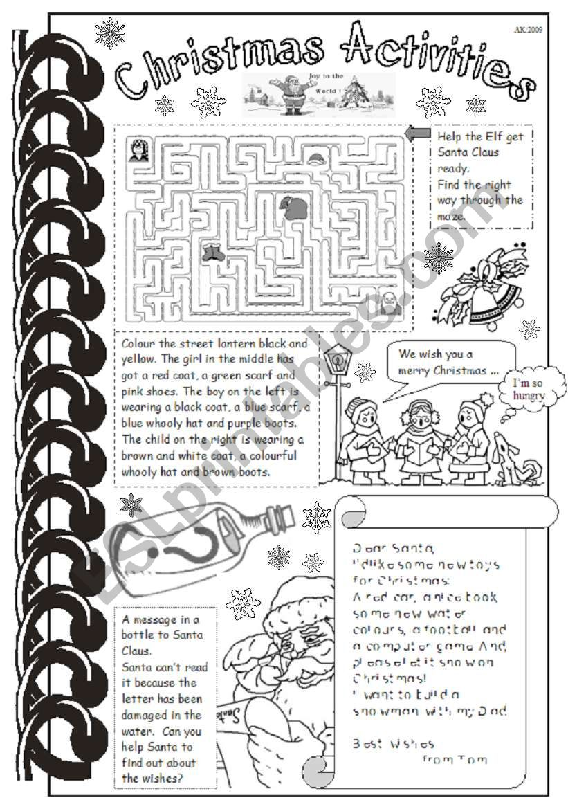 Christmas Activities worksheet