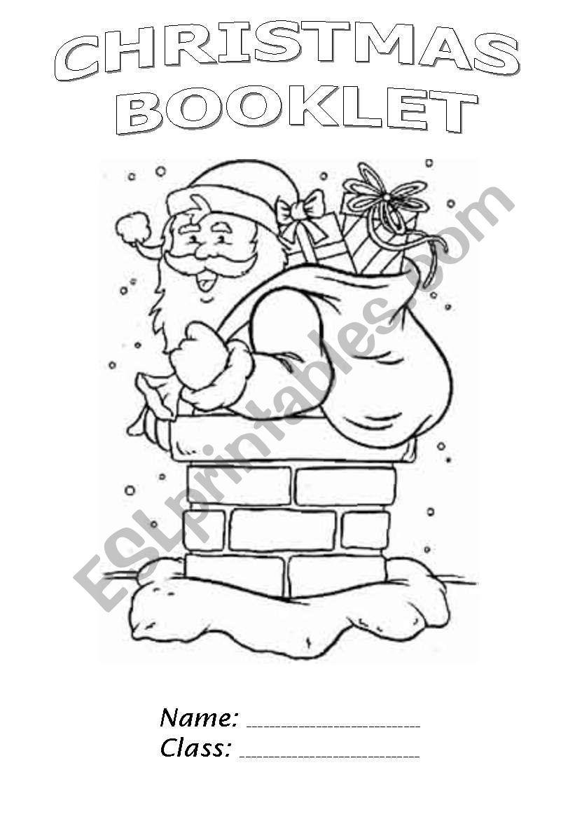 Christmas Booklet part 1 worksheet