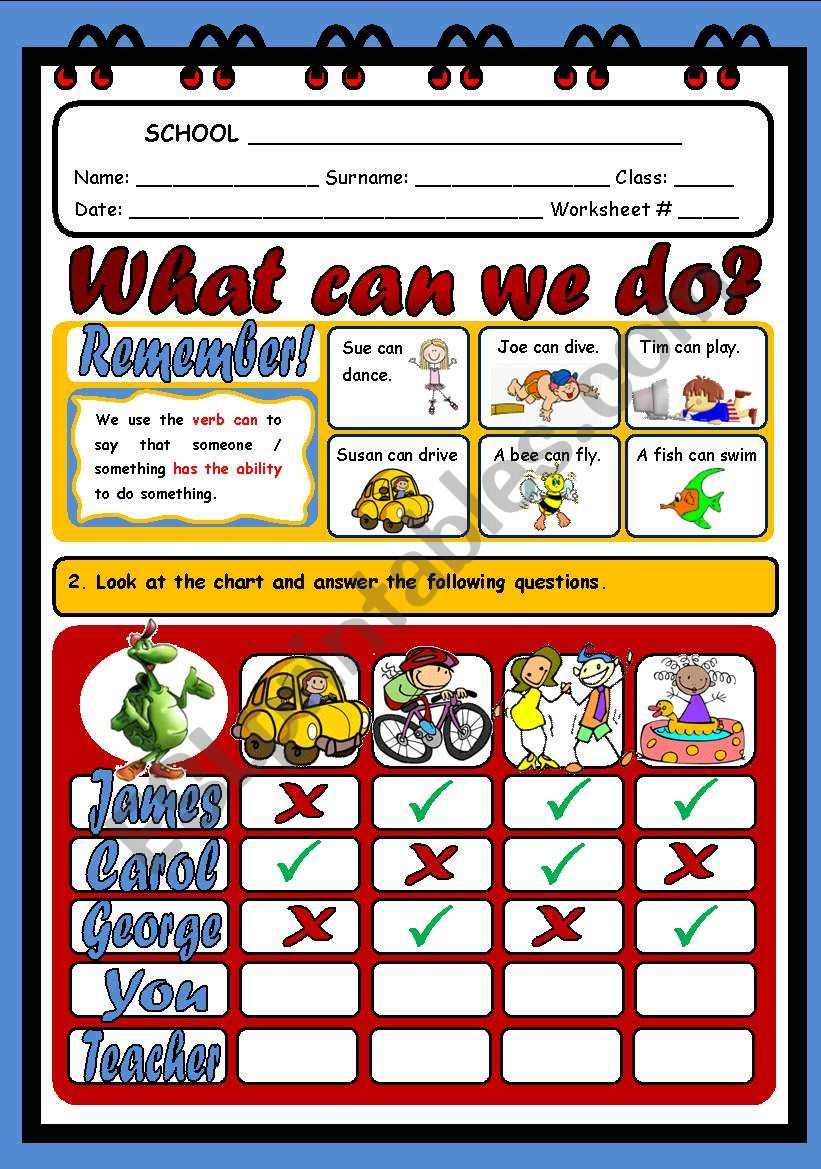 WHAT CAN WE DO? (2 PAGES) worksheet