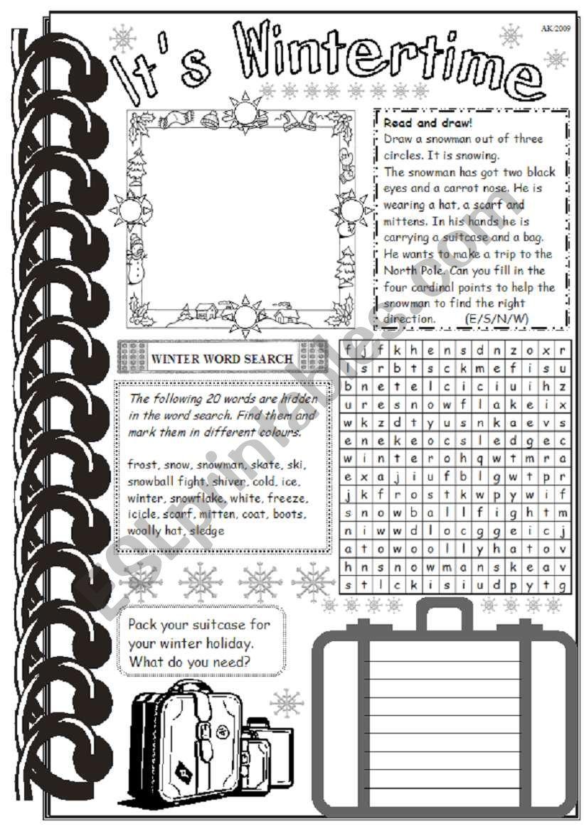 It´s Wintertime 2 worksheet