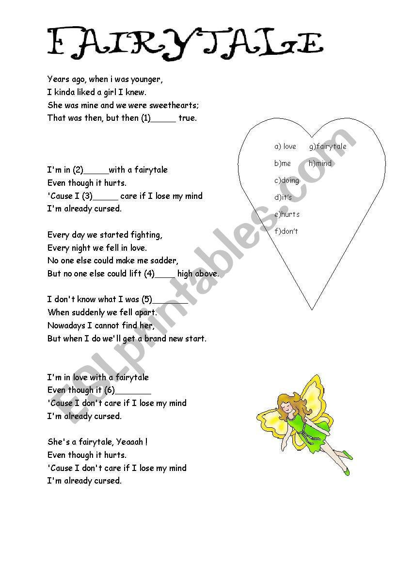 fairytale worksheet