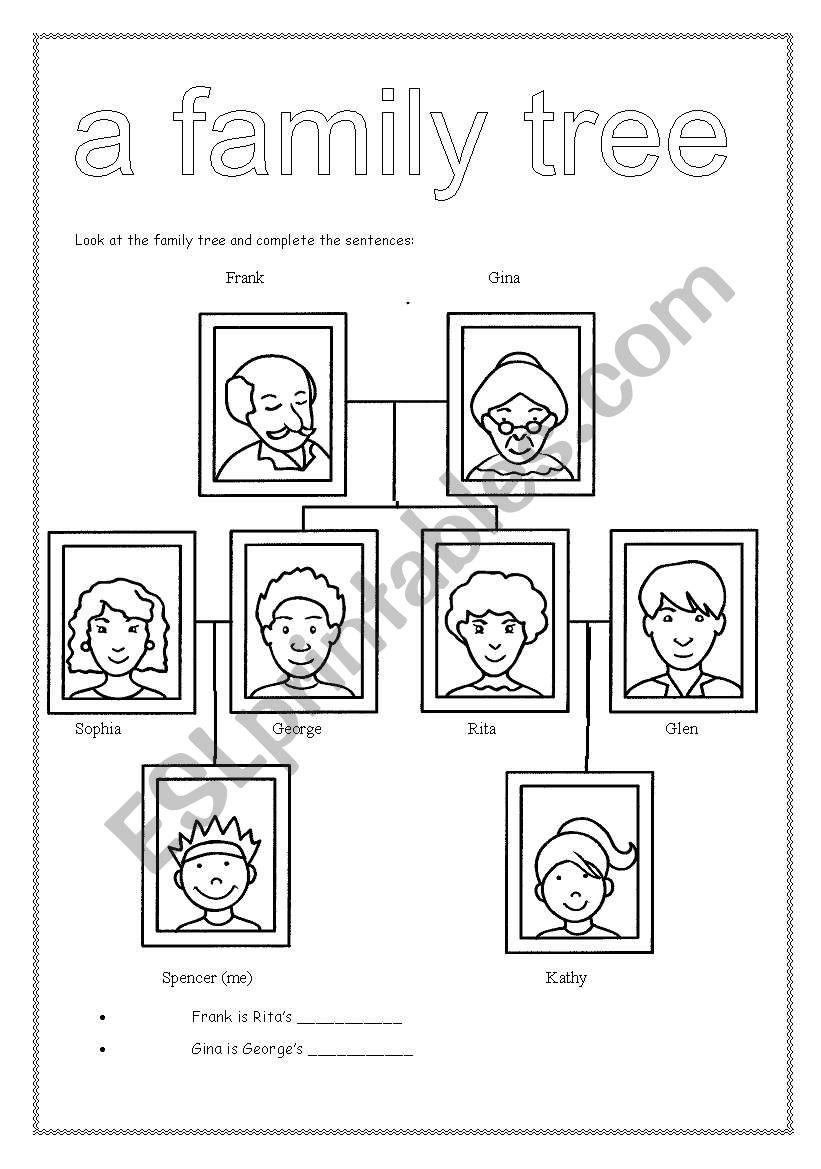 A family tree 2 worksheet