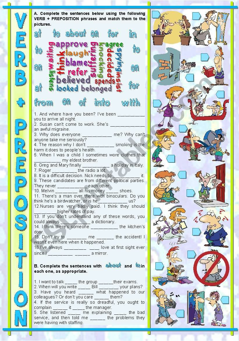 VERB + PREPOSITION worksheet