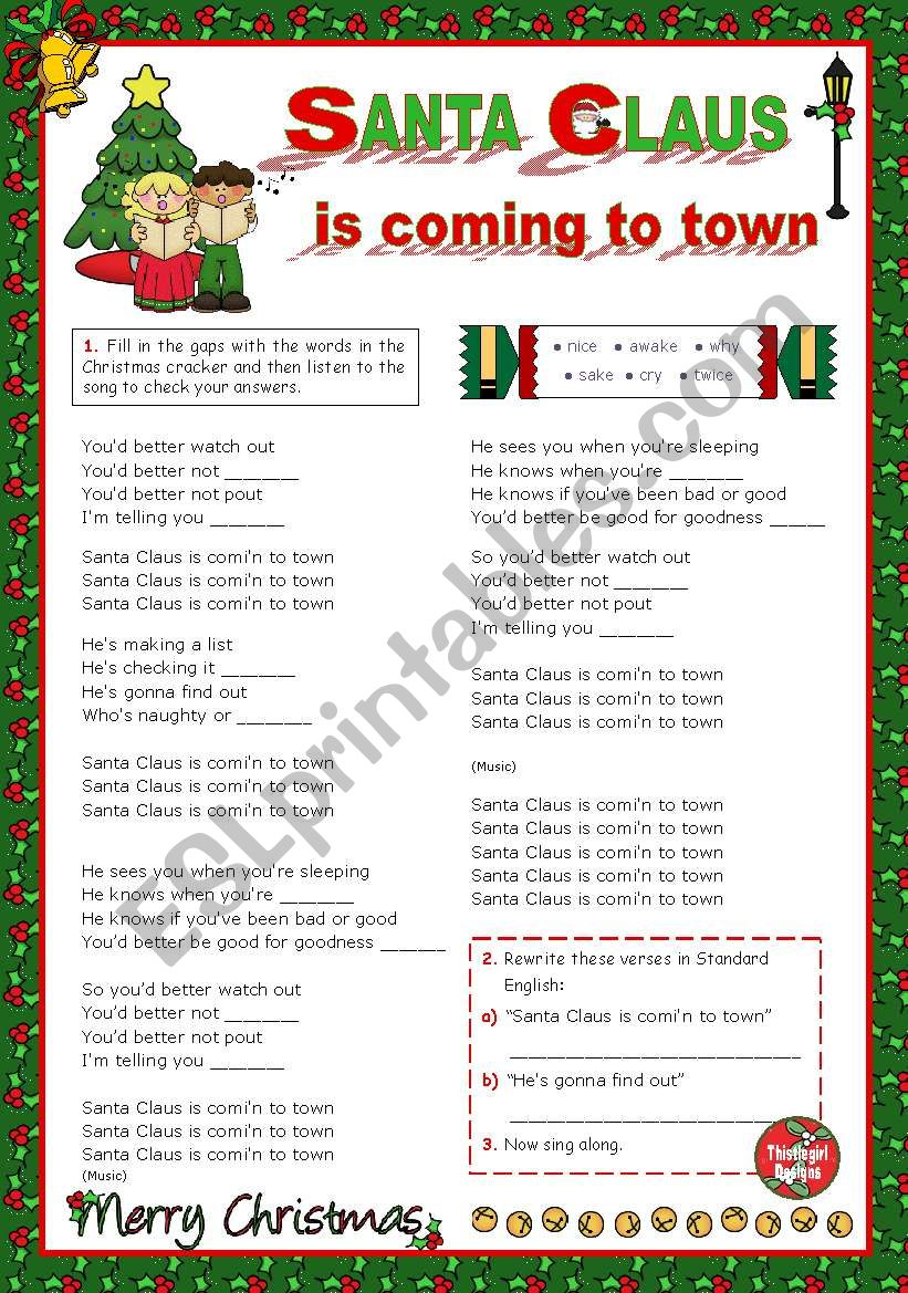 Christmas Set  (10)  -  It´s time to sing along:  Bruce Springsteen´s