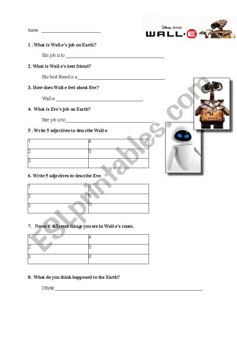worksheet Wall E Movie Worksheet english worksheets wall e movie worksheet worksheet
