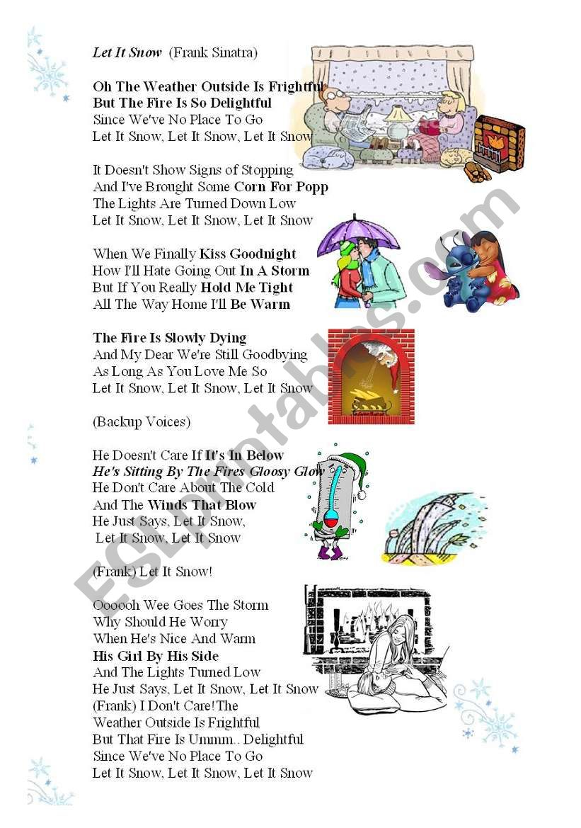 UPGRADED MP3 LINK (in description) Christmas New Year Song WITH MP3 easydownloadable linc LET IT SNOW