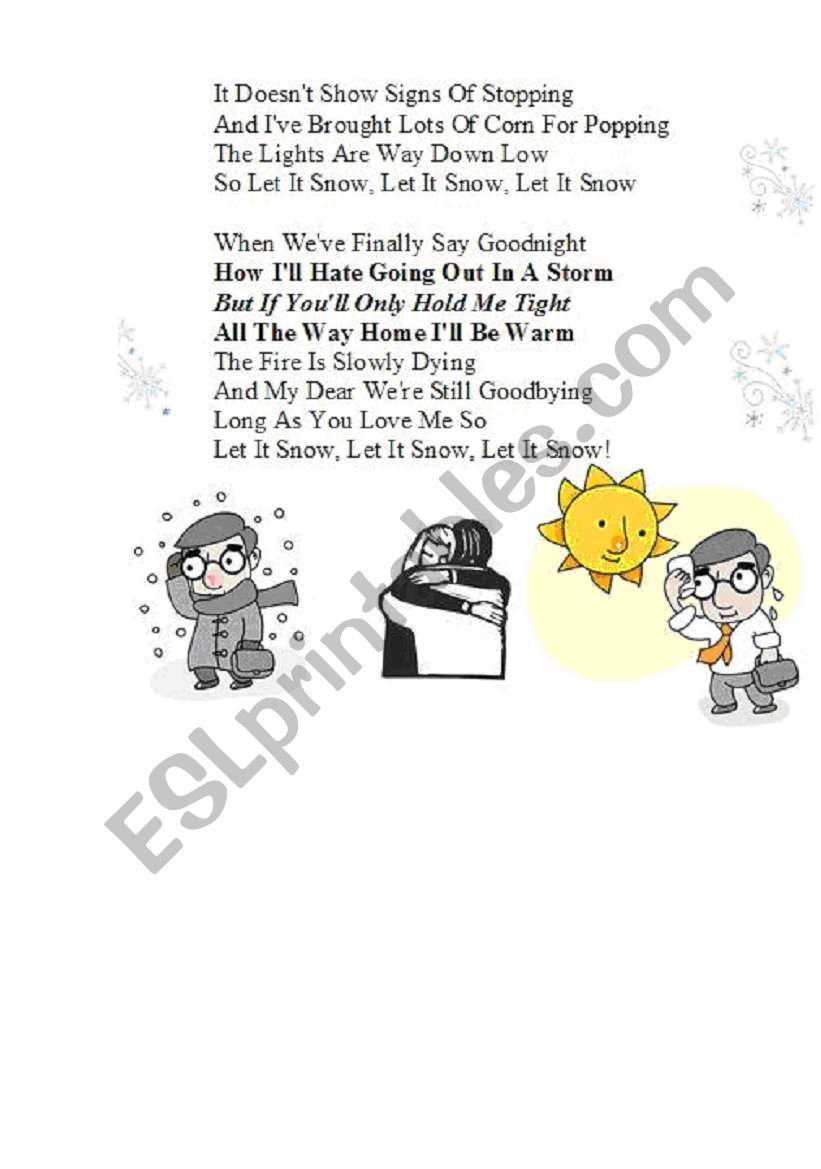 Let it snow song part 2 SONG WITH MP3 link (see part 1)