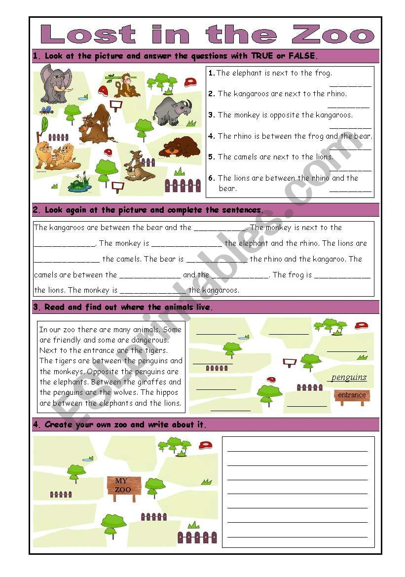 Lost in the Zoo: Basic Prepositions