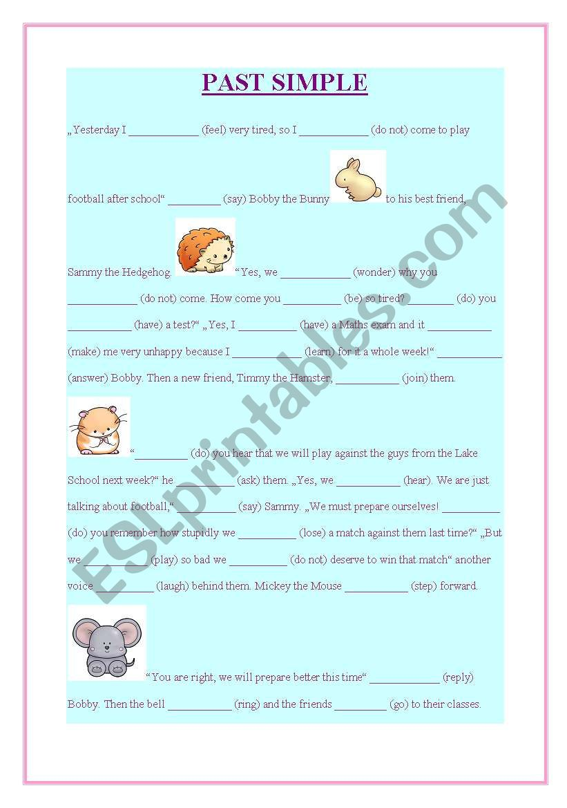 past simple exercise worksheet