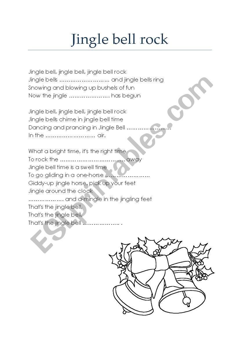 Jingle bell rock - Christmas carol / song - ESL worksheet by m19m