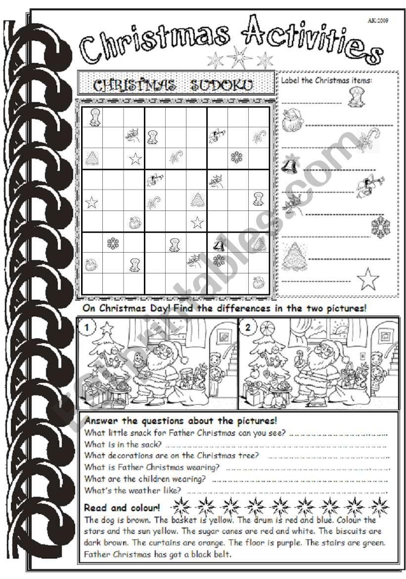 Christmas Activities 2 worksheet